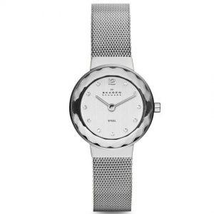 Skagen 456SSS Women's Leonora Stainless Steel Mesh Small Watch