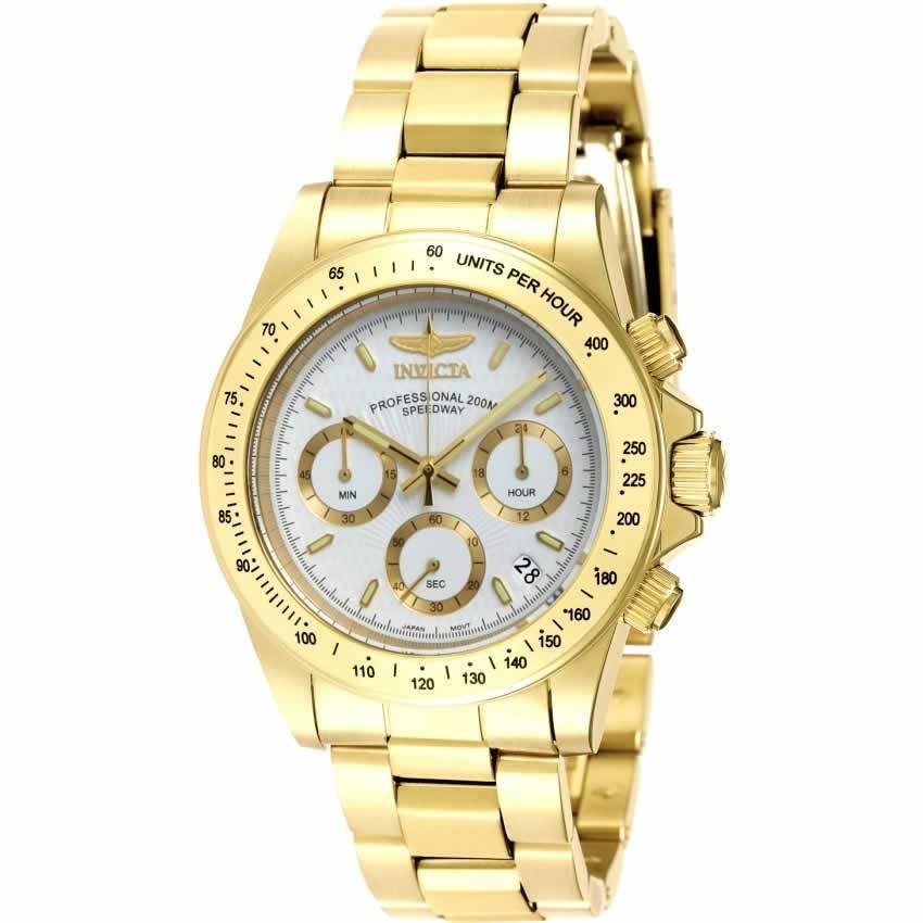 Invicta 7030 Signature Men's Quartz Chronograph White Dial Watch