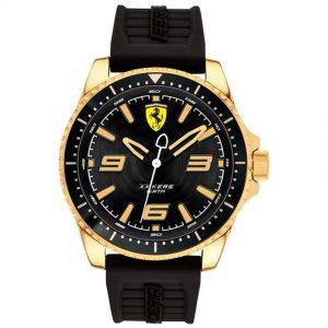 Ferrari 830485 Men's XX KERS Gold Tone Steel Black Dial Rubber Watch