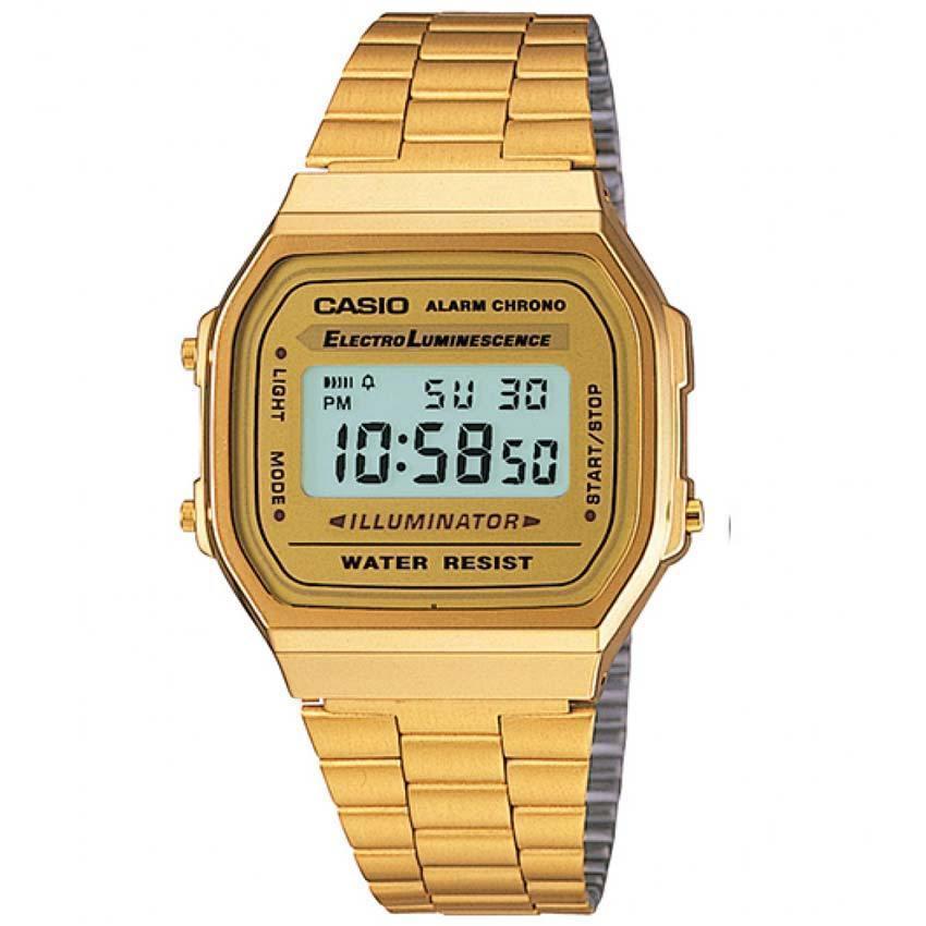 CASIO GENTS A168WG-9WDF METAL BASIC CHRONO WATCH