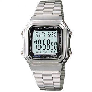 Casio A178WA-1A Men's Illuminator Stainless Steel Watch