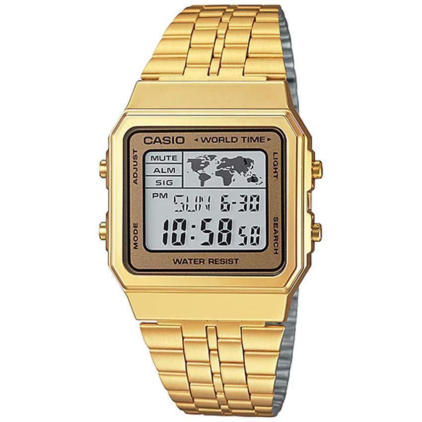 Casio Gents A500WGA-9DF Metal Basic Digital World Time Small Watch