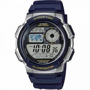 Casio AE1000W-2AV Men's Sport Dark Blue Resin Band Medium Watch