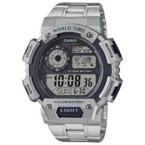 Casio AE1400WHD-1AV Men's Quartz Illuminator World Time Stainless Watch