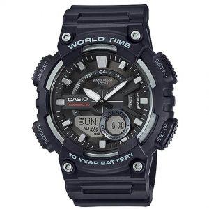 Casio AEQ110W-1AV Men's Analog and Digital Quartz Black Watch