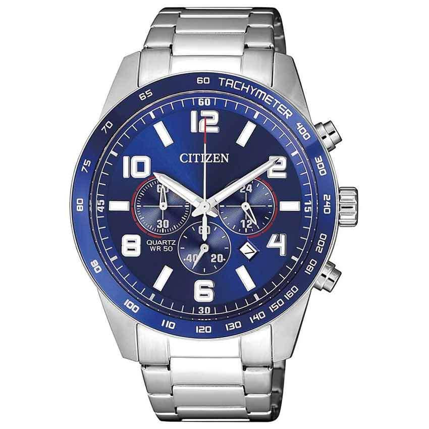 Citizen AN8161-50L Men's Chronograph Blue Dial Quartz Watch