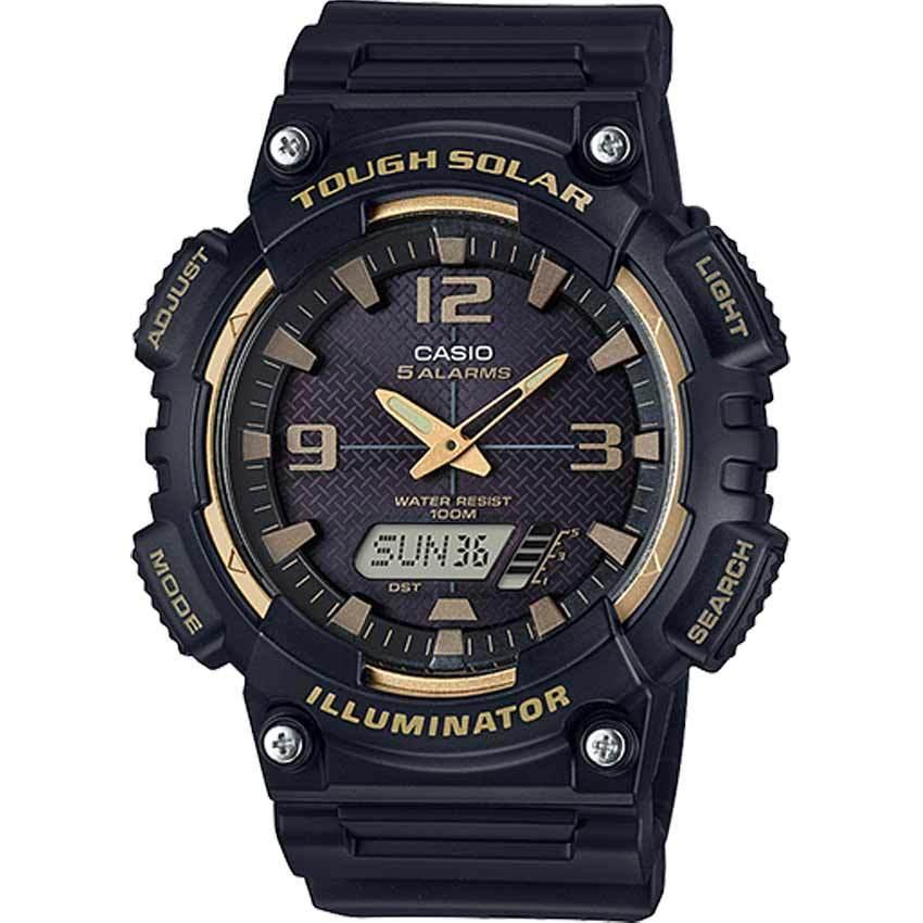 Casio AQS810W-1A3V Men's Tough Solar Illuminator Black Resin Watch