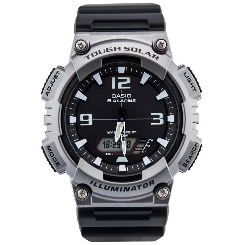 Casio AQS810W-1A4V Men's Wrist Watch Sports Anadigi Solar