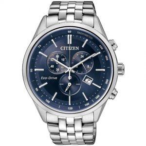 Citizen AT2140-55L Men's Eco-Drive Tachymeter Blue Dial Watch