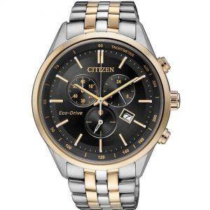 Citizen AT2144-54E Men's Eco-Drive Chronograph Two-Tone Bracelet Watch