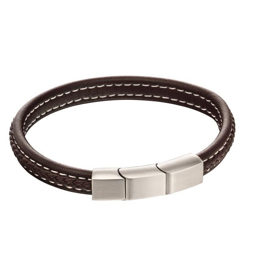 Fred Bennett B5120 Men's Brown Leather Bracelet