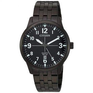 Citizen BI1055-52E Men's Quartz Stainless Steel Black Medium Size Watch