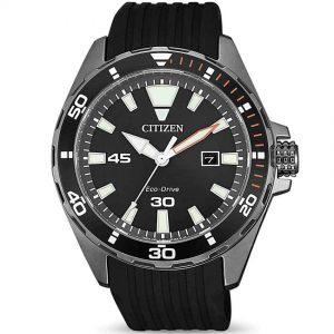 Citizen BM7455-11E Men's Eco-Drive Analog Black Silicone Watch