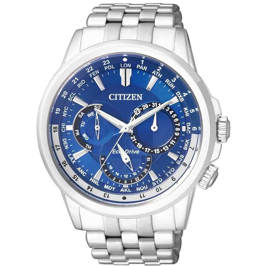 Citizen BU2021-69L Men's Eco-Drive Blue Dial Stainless Steel Watch