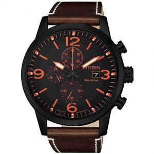 Citizen CA0617-11E Men's Eco-Drive Chronograph Leather Watch