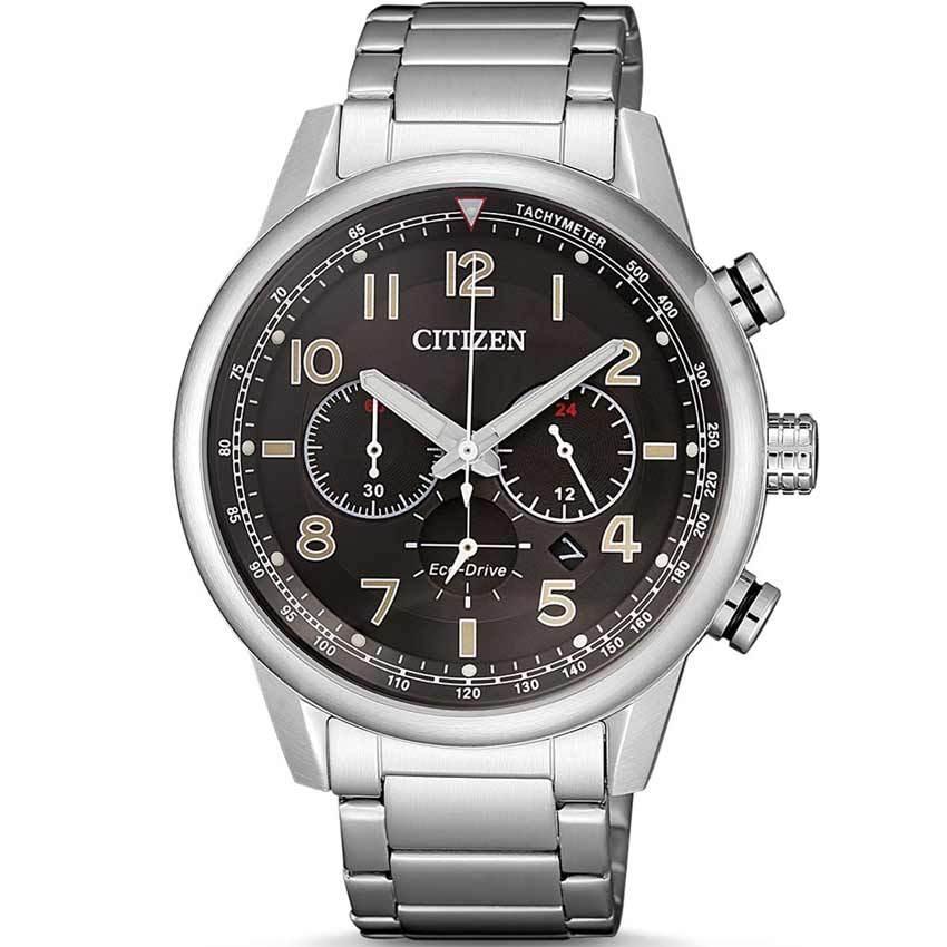 Citizen CA4420-81E Men´s Eco-Drive Chronograph Black Dial Bracelet Watch