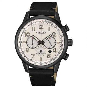 Citizen CA4425-10X Men's Eco-Drive Tachymeter Leather Watch