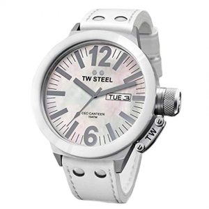 TW Steel CE1037 Men's CEO Canteen White Ceramic MOP Watch