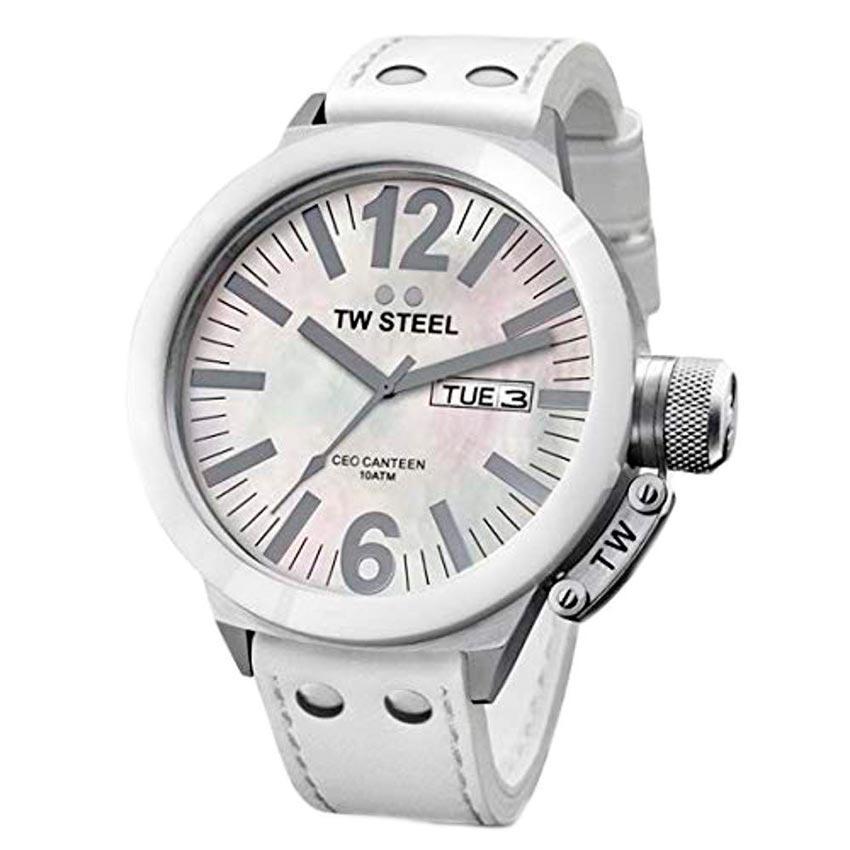 TW Steel CE1037 Men's CEO Canteen White Ceramic MOP Watch
