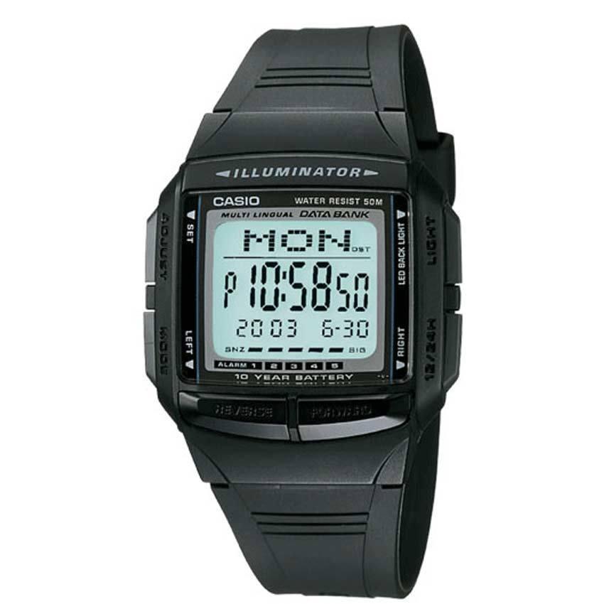 Casio DB36-1AV Men's Multilingual Databank Black Small Size Watch