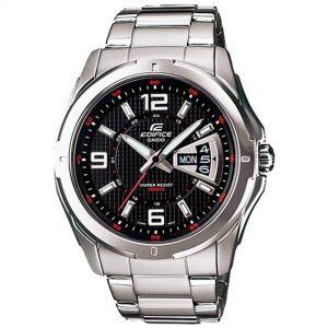 Casio Gent's EF-129D-1AVUDF Edifice Multifunction Black Dial Watch