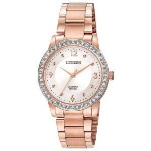 Citizen EL3093-83A Women's Quartz  Rose Gold Off-White Dial Watch