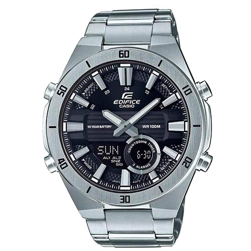 Casio Gent's ERA-110D-1AVDF Analog-Digital Stainless Steel Watch