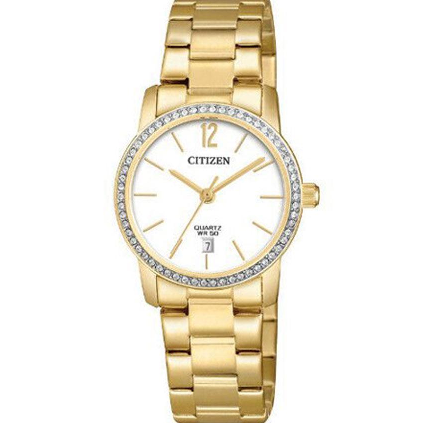 Citizen EU6032-85A Women's Quartz White Dial Gold Small Watch