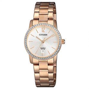 Citizen EU6039-86A  Women's Swarovski Crystals Rose Gold Watch