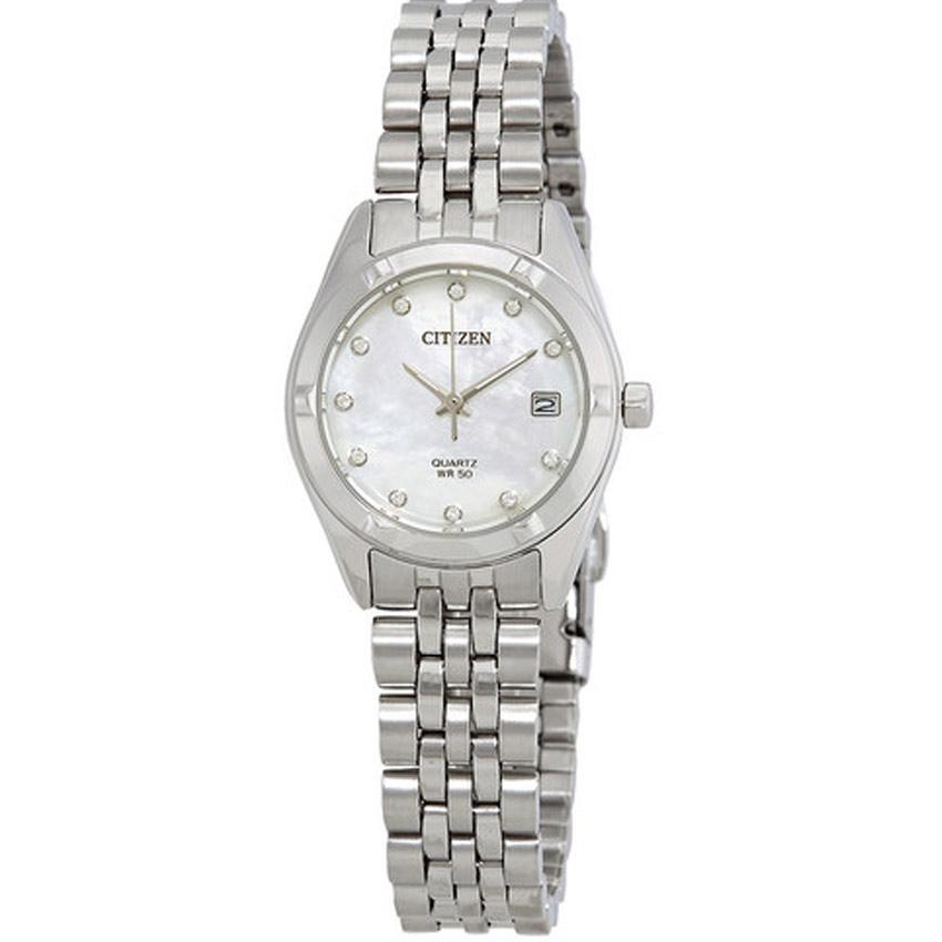Citizen EU6050-59D Women's Analog Quartz Diamond Accent Small Watch
