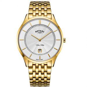 Rotary GB08413/02 Men's Ultra Slim Gold Stainless Steel Medium Watch