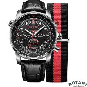 Rotary GS00195/04/KIT Men's Interchangeable Strap Swiss Watch