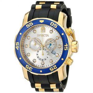 Invicta 17880 Men's Pro Diver Quartz Multifunction Silver Dial Watch