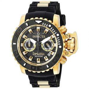 Invicta 20475 Men's Sea Hunter Quartz Multifunction Black Dial Large Watch