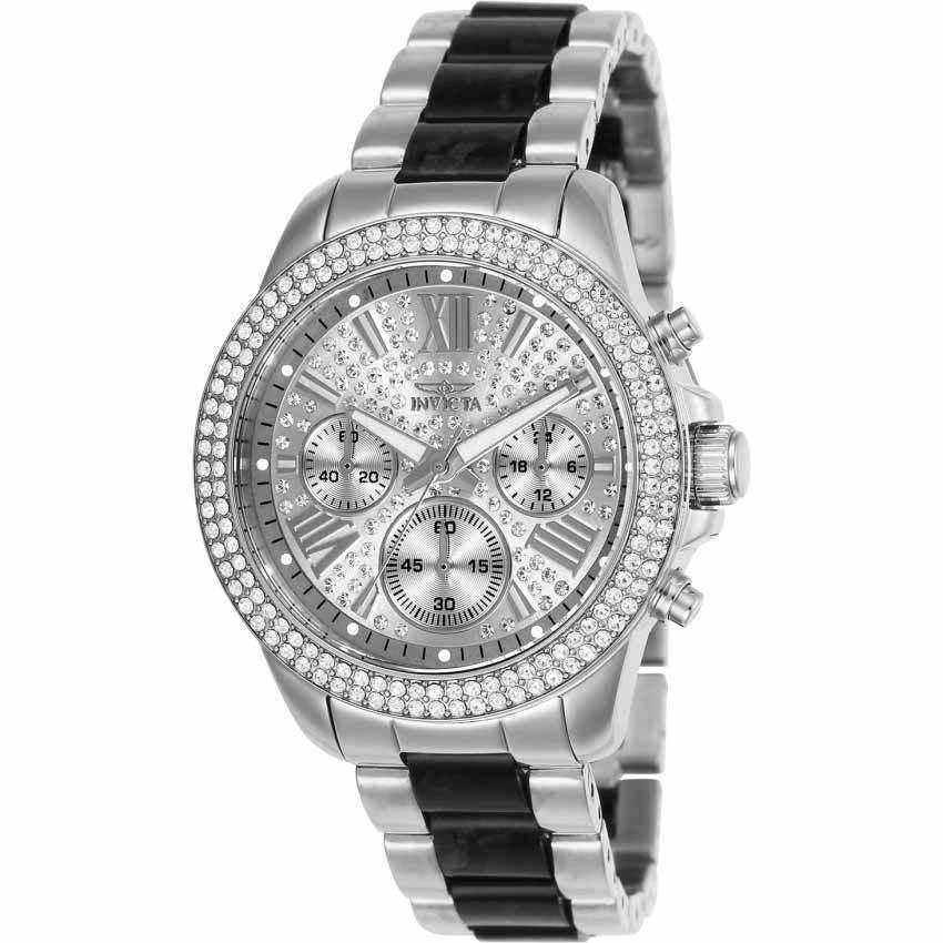 Invicta 20510 Women's Angel Quartz Multifunction Silver Dial Bracelet Watch