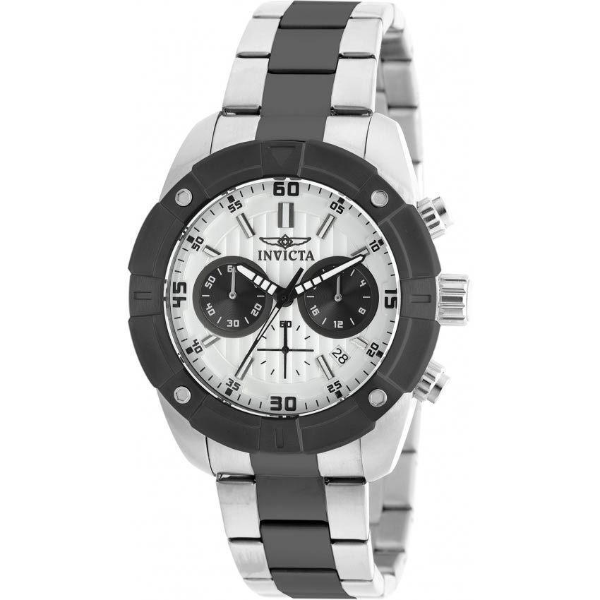 Invicta 21471 Men's Specialty Quartz Multifunction Silver Dial Bracelet Watch