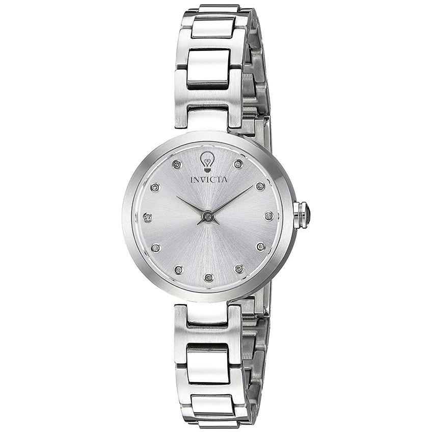 Invicta 22886 Women's Gabrielle Union Quartz 3 Hand Silver Dial Small Watch