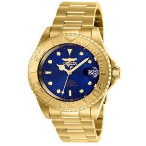 Invicta 26997 Men's Pro Diver Automatic Blue Dial Medium Gold Watch