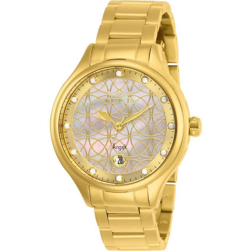 Invicta 27434 Women's Angel Quartz 3 Hand White Dial Watch