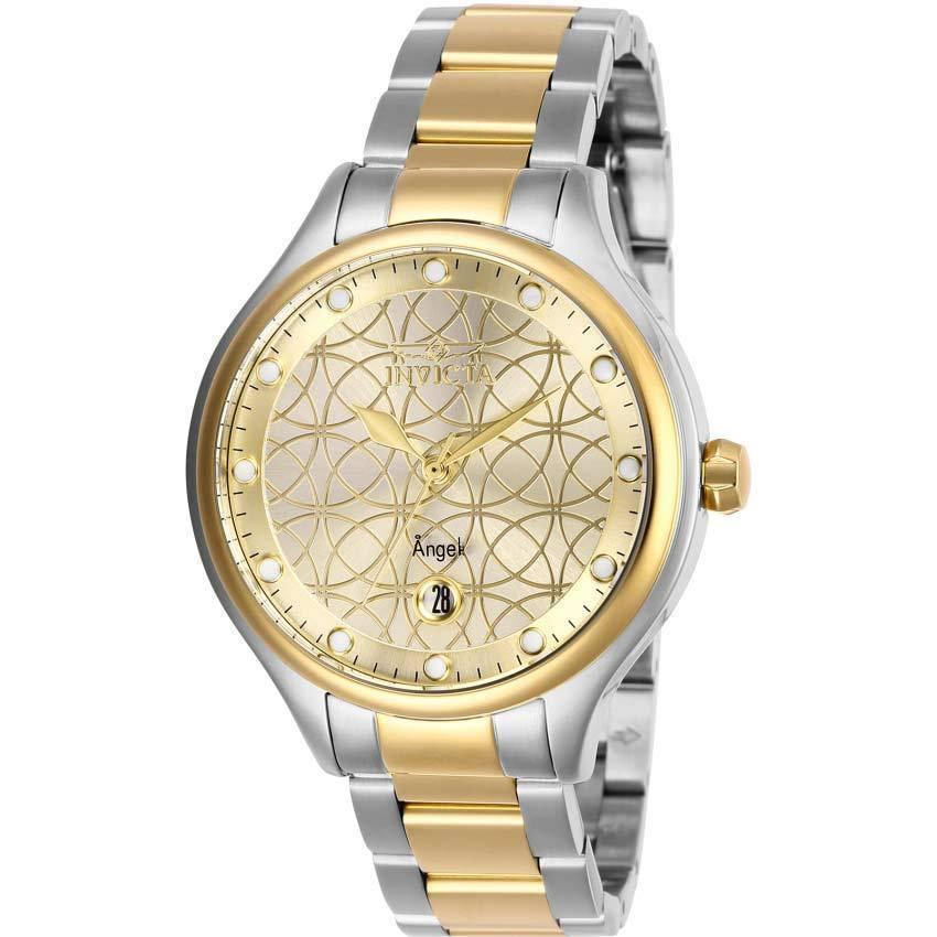 Invicta 27435 Women's Angel Quartz 3 Hand Gold Dial Watch