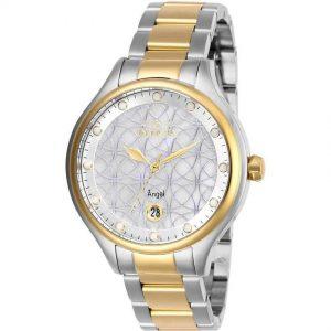 Invicta 27436 Women's Angel Quartz 3 Hand White Dial Watch
