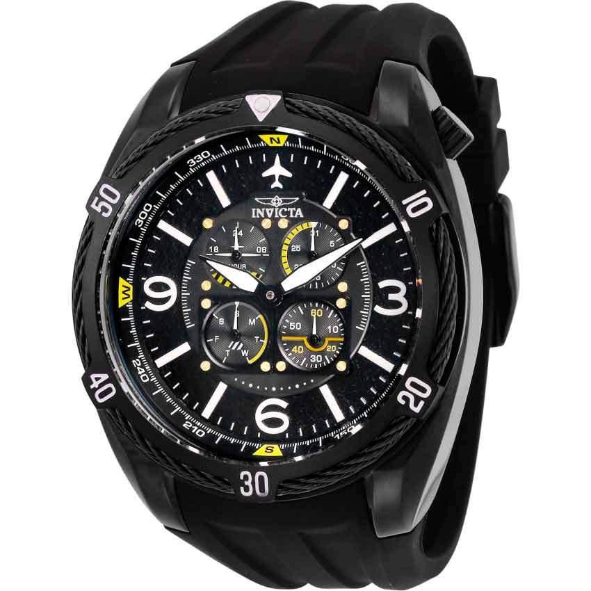 Invicta 28078 Men's Aviator Polyurethane Large Multi Function Watch