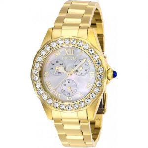 Invicta 28465 Women's Angel Quartz 3 Hand White Dial Watch