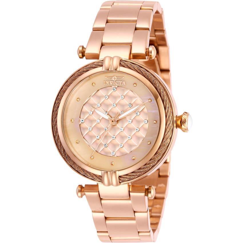 Invicta 28933 Women's Bolt Rose Gold Dial, Bracelet Watch