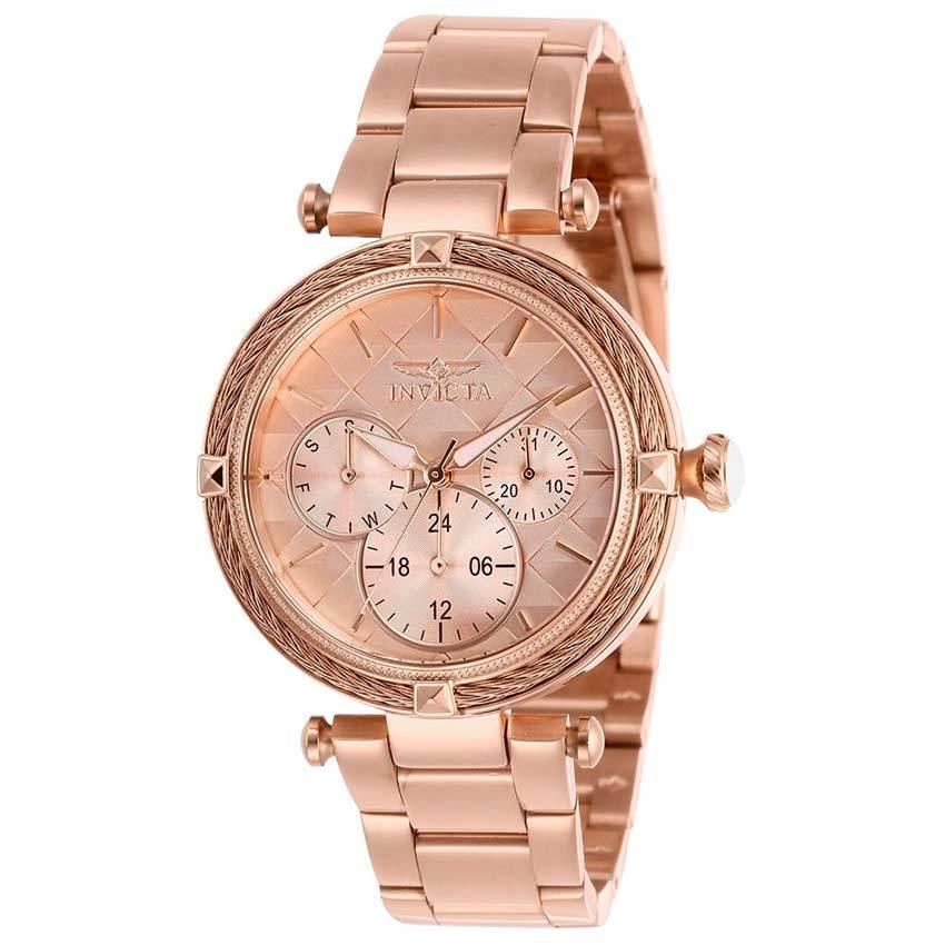 Invicta 28961 Women's Bolt Quartz 3 Hand Rose Gold Dial Watch