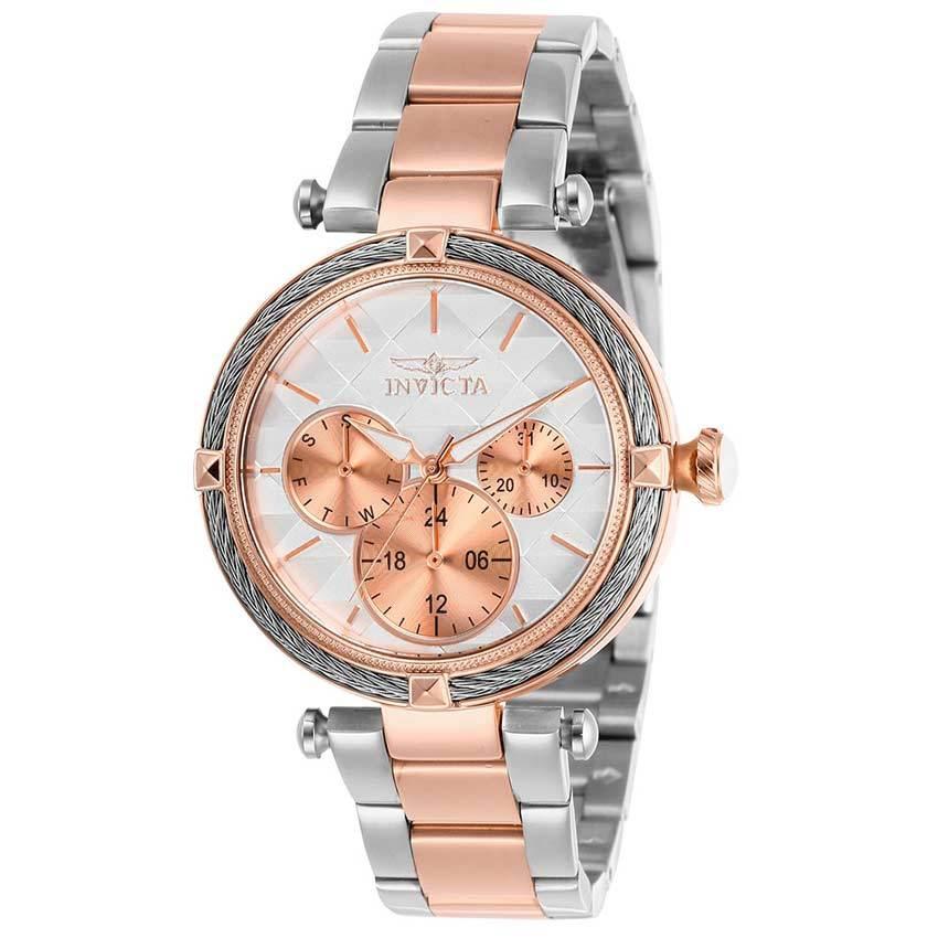 Invicta 28962 Women's Bolt Quartz 3 Hand White Dial Watch
