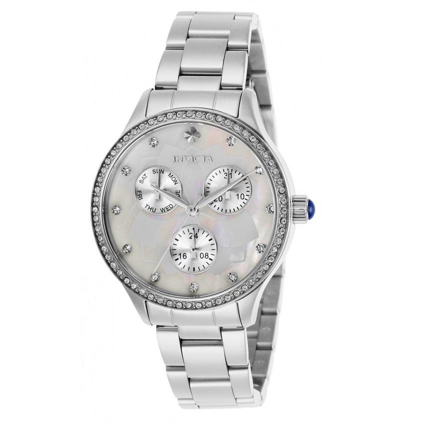 Invicta 29090 Women's Angel Quartz 3 Hand White Dial Watch