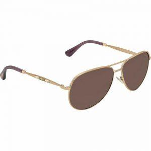 Jimmy Choo Jewly/S 014J Women Bronze Frame Smoke Gradient Lens Sunglasses