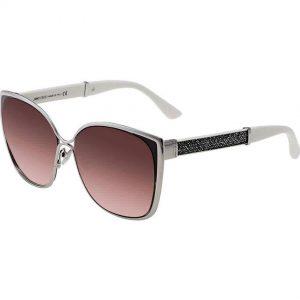 Jimmy Choo Maty/S 017F Women Palladium Glitter Cat Eye Sunglasses