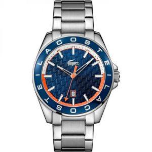 Lacoste 2010886 Men's Westport Blue Bezel Silver Bracelet Watch
